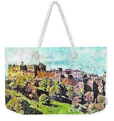 Edinburgh Castle Skyline No 2 Weekender Tote Bag by Richard James Digance