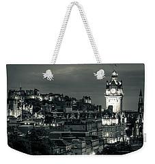Edinburgh In Black And White Weekender Tote Bag