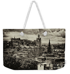 Weekender Tote Bag featuring the photograph Edinburgh In Scotland by Jeremy Lavender Photography