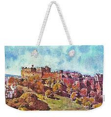 Edinburgh Skyline No 1 Weekender Tote Bag by Richard James Digance