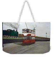 Edinburgh Tram With Goods Train Weekender Tote Bag