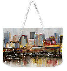 Edmonton Skyline Abstract1 Weekender Tote Bag