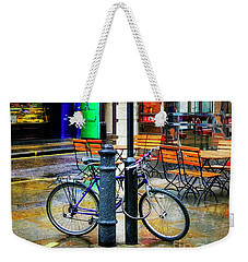 Weekender Tote Bag featuring the photograph Ed's Easy Diner Bicycle by Craig J Satterlee