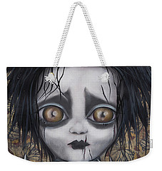 Edward Scissorhands Weekender Tote Bag by Abril Andrade Griffith
