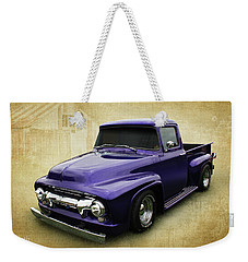 Weekender Tote Bag featuring the photograph Ef In Purple by Keith Hawley