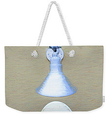 Weekender Tote Bag featuring the photograph Egg Drop Lamp by Gary Slawsky