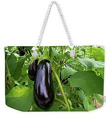 Eggplant In A Greenhouse Weekender Tote Bag