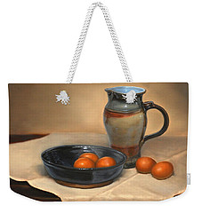 Eggs And Pitcher Weekender Tote Bag