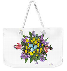 Eggs In Dandelions, Lilacs, Violets And Tulips Weekender Tote Bag