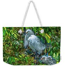 Egret And Chicks Weekender Tote Bag