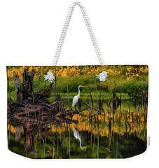 Egret Art  Weekender Tote Bag