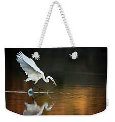 Egret At Sunset Weekender Tote Bag