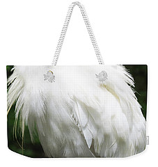 Egret Feeling Ruffled Weekender Tote Bag