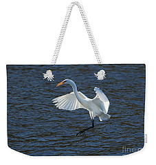 Egret Fishing Weekender Tote Bag