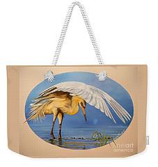 Chloe The  Flying Lamb Productions                  Egret Fishing Weekender Tote Bag