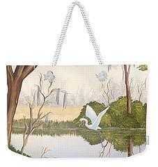 Egret In Flight 1 Weekender Tote Bag