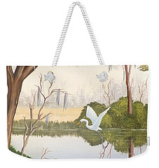 Egret In Flight 1 Weekender Tote Bag