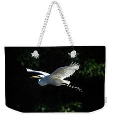 Egret In Flight Art Greenfield Lake Weekender Tote Bag
