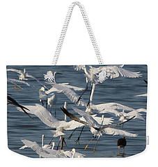 Egret Mania 3 Weekender Tote Bag