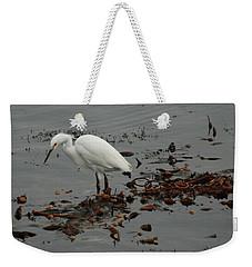 Egret On Seaweed Raft Weekender Tote Bag