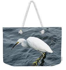 Egret On The Munch Weekender Tote Bag