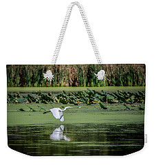 Egret Over Wetland Weekender Tote Bag