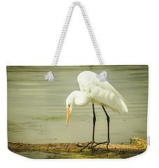 Egret Portrait Weekender Tote Bag