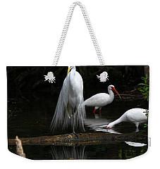 Egret Reflection Weekender Tote Bag
