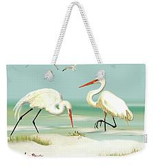 Egrets Crabbing Weekender Tote Bag