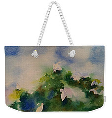 Egrets Impressionistic Watercolor Gift Weekender Tote Bag