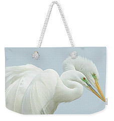 Egrets In Love 2 Weekender Tote Bag