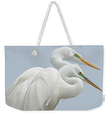 Egrets In Love Weekender Tote Bag