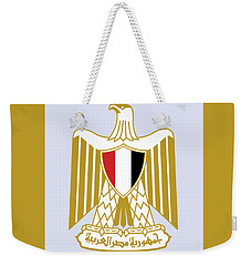 Weekender Tote Bag featuring the drawing Egypt Coat Of Arms by Movie Poster Prints