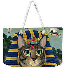 Egyptian Pharaoh Cat - King Of Pentacles Weekender Tote Bag