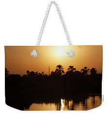 Weekender Tote Bag featuring the photograph Egyptian Sunset by Silvia Bruno