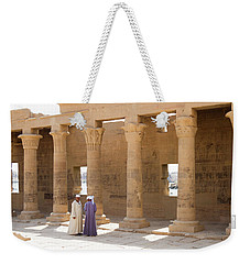 Weekender Tote Bag featuring the photograph Egyptians by Silvia Bruno