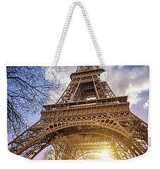 Eiffel Sunset Weekender Tote Bag by Delphimages Photo Creations