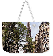 Weekender Tote Bag featuring the photograph Eiffel Tower 2b by Andrew Fare