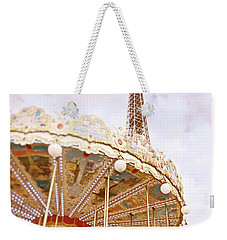 Weekender Tote Bag featuring the photograph Eiffel Tower And Carousel by Ivy Ho