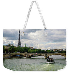 Eiffel Tower And The River Seine Weekender Tote Bag