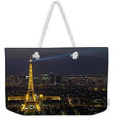 Eiffel Tower At Night Weekender Tote Bag by Sebastian Musial