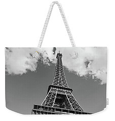 Eiffel Tower - Black And White Weekender Tote Bag by Melanie Alexandra Price