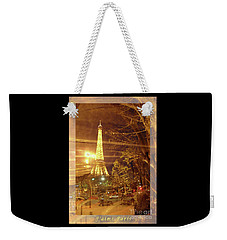 Eiffel Tower By Bus Tour Greeting Card Poster Weekender Tote Bag