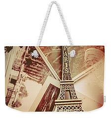 Eiffel Tower Old Romantic Stories In Ancient Paris Weekender Tote Bag