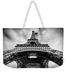 Weekender Tote Bag featuring the photograph Eiffelt Tower From Below - Paris by Barry O Carroll