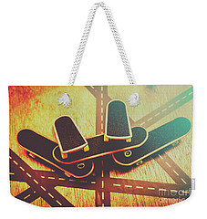 Eighties Street Skateboarders Weekender Tote Bag