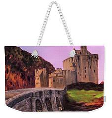 Eilean Donan Castle Weekender Tote Bag by Janet Greer Sammons