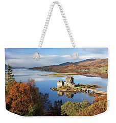 Weekender Tote Bag featuring the photograph Eilean Donan In Autumn - Dornie by Grant Glendinning