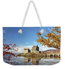 Eilean Donan In Autumn Weekender Tote Bag