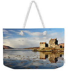 Weekender Tote Bag featuring the photograph Eilean Donan - Loch Duich Reflection - Dornie by Grant Glendinning